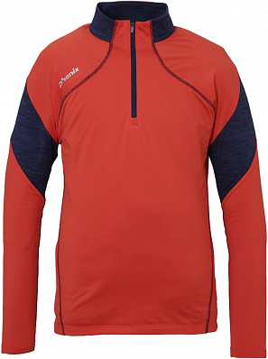 Alto 1/2 Zip Tee (Flame red)